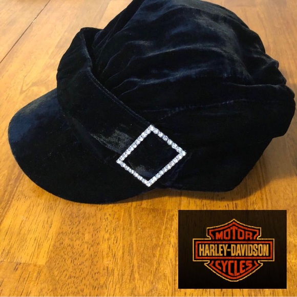 8aede996f Harley-Davidson Black Velvet Rhinestone Hat
